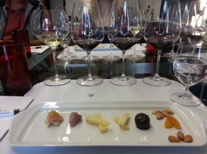 Delightful food pairing with the tasting.