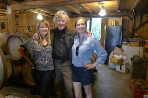 Hossfeld Vineyards ladies and Sean Thackrey